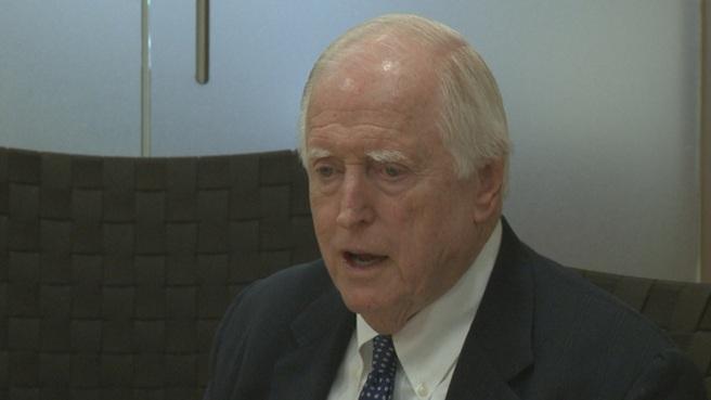 New PawSox President Jim Skeffington speaks to reporters in February 2015.