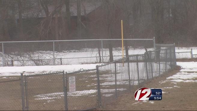 Snowy baseball field_158262