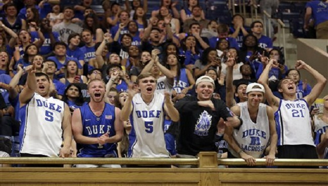 Duke Reax Final Four Basketball_161368