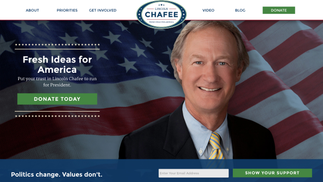 Chafee for President website_162251