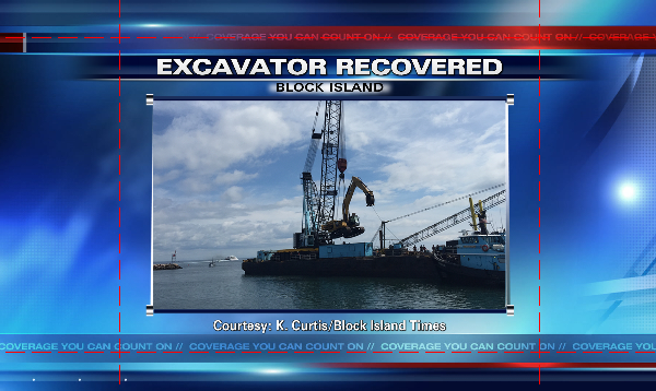 Block Island excavator recovered from the harbor_182458