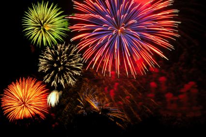 generic colorful fireworks display cluster_2422