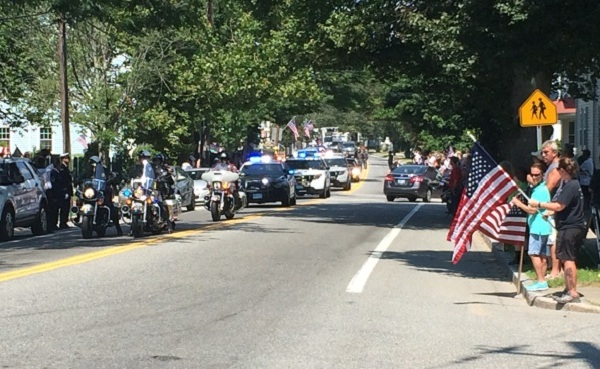 Funeral procession in Bristol for First Sgt. P. Andrew McKenna_201480