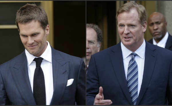 Tom Brady and Roger Goodell leave federal court_200233