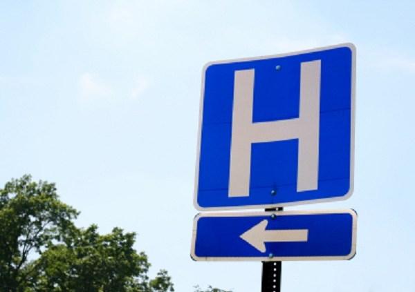 generic blue hospital sign_2295