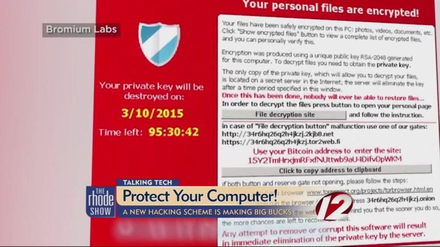 Talking Tech - Computer hacking scheme warning