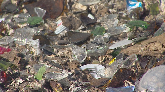 Glass at Johnston landfill_228483