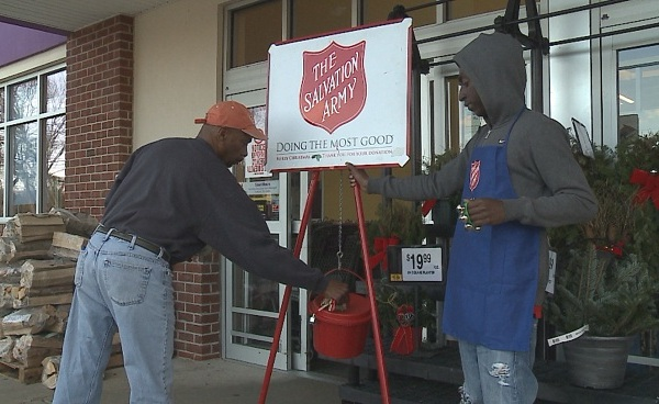 Salvation Army bell ringer donations_236849