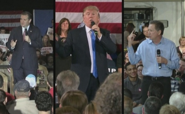 GOP presidential candidates Ted Cruz, Donald Trump and John Kasich_295032