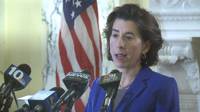 Governor Raimondo announces she will drop the much-criticized new tourism slogan and get back some taxpayer money.