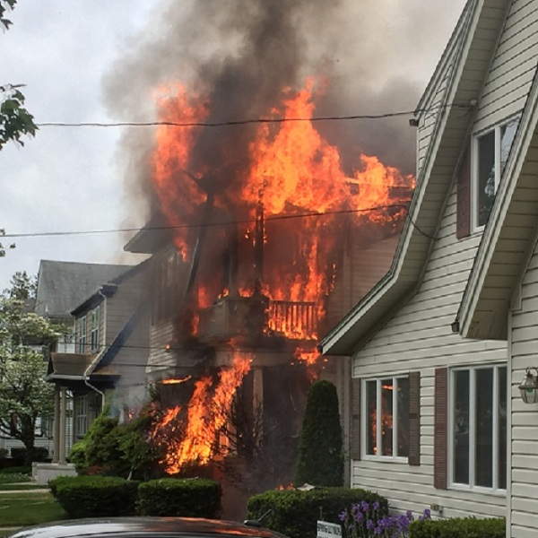 Providence home heavily damaged by fire_306180