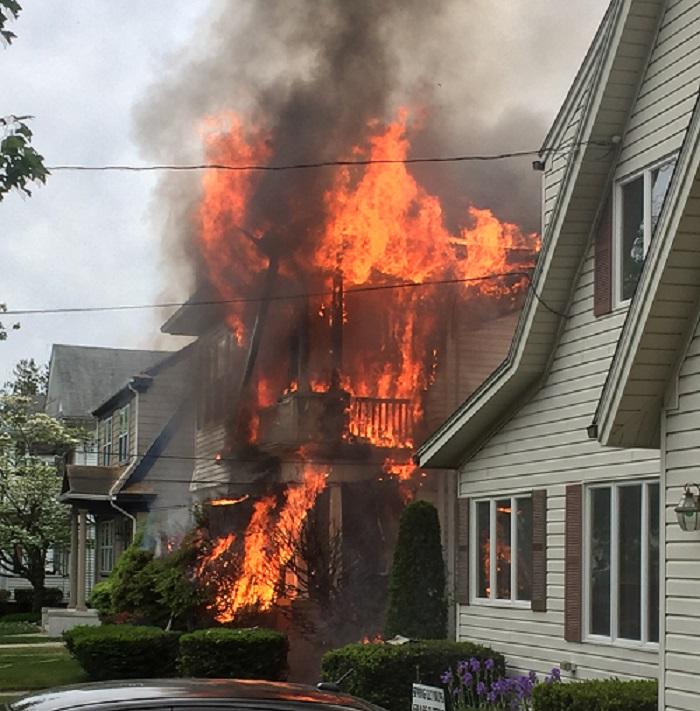 Providence home heavily damaged by fire_306180