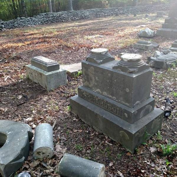 Uxbridge Cemetery Damage_307164