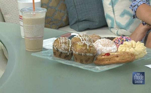 Dunkin' Donuts Frozen Coffee, Lemon Poppy Seed Muffins_326299