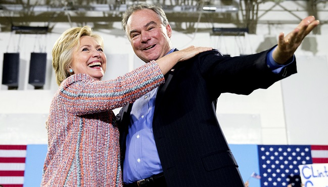 Hillary Clinton, Tim Kaine_334300