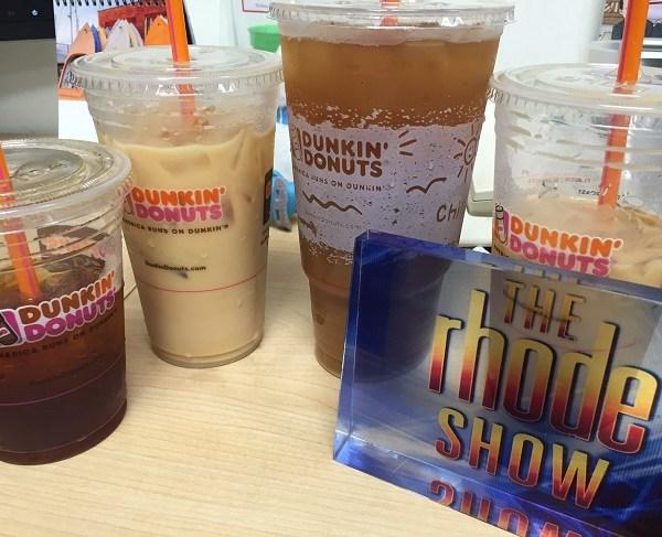dunkin iced coffee on rhode show set_307684
