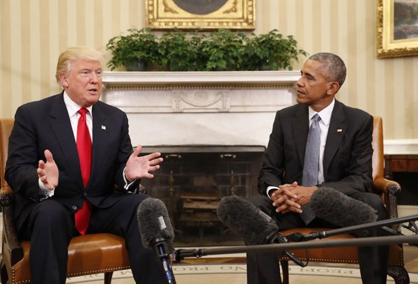 Donald Trump and Barack Obama_386238