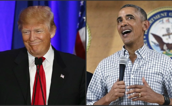 Donald Trump and Barack Obama_399905