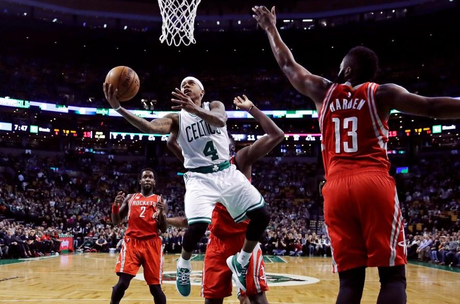 premium selection 70ce4 afab9 Celtics blast past Rockets 120-109