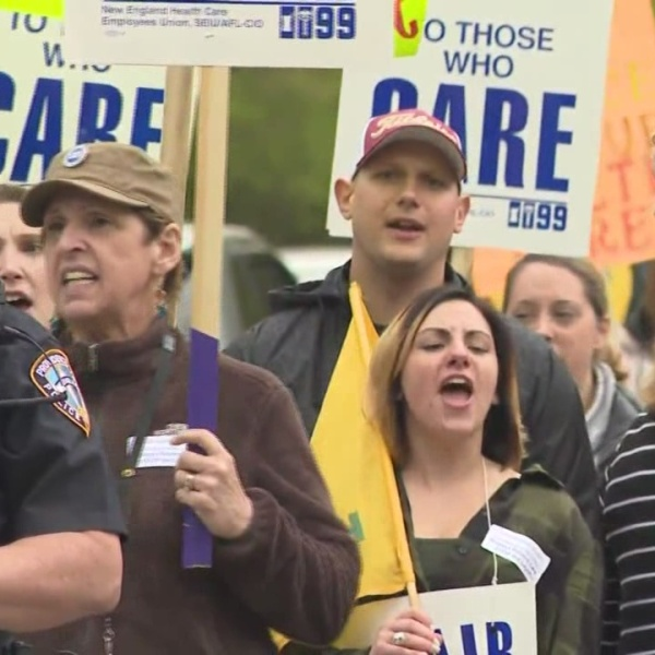 Nurses, Healthcare Workers Protest Proposed Layoffs