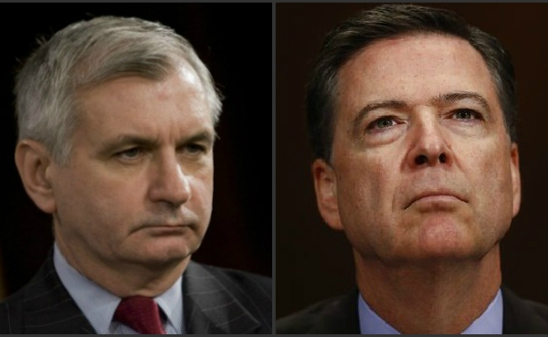 U.S. Sen Jack Reed and former FBI Director James Comey_474913