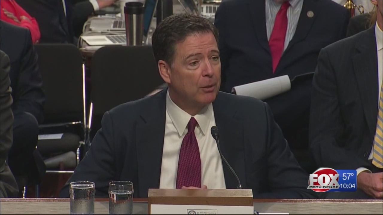 Comey gave first public testimony Thursday