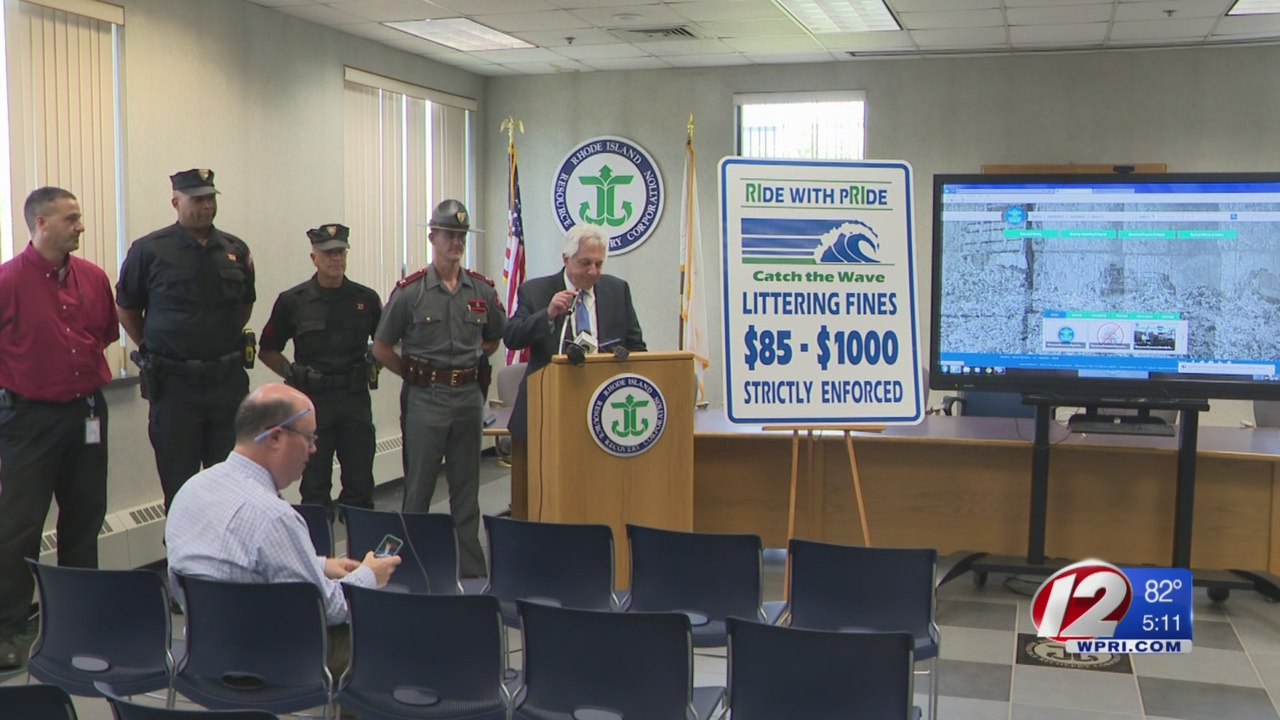 RIDOT, R.I. Resource Recovery and RISP join forces to combat littering