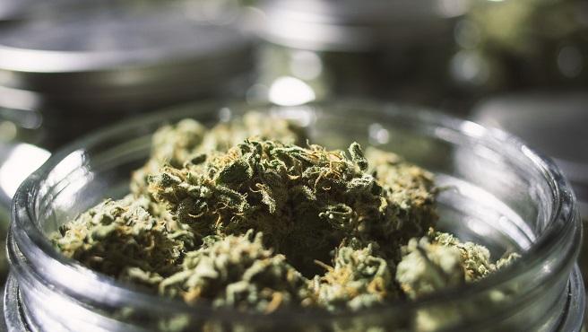 Close Up Marijuana Buds in Glass Jar with Blurry Background.jpg_405211