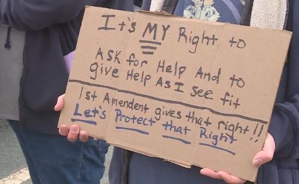 cranston panhandling protest_449685