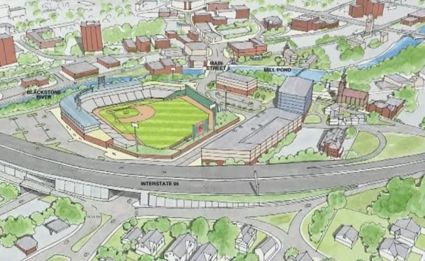 Rendition of new PawSox stadium - Apex site_458047