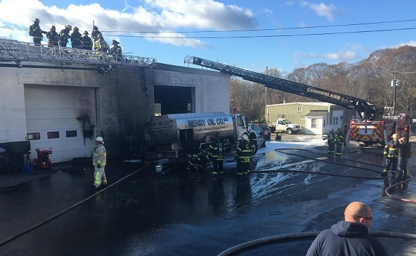 Cumberland warehouse truck fire Mendon Road_590856