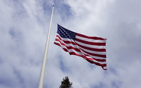American Flag at Half Mast_583606