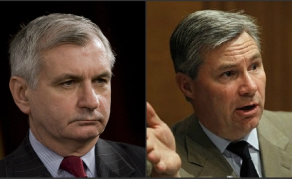 U.S. Sens. Jack Reed, Sheldon Whitehouse_230410
