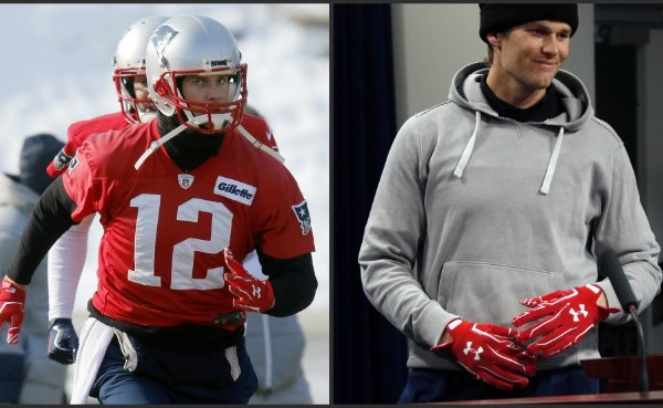 Tom Brady wears gloves at practice and news conference_626286