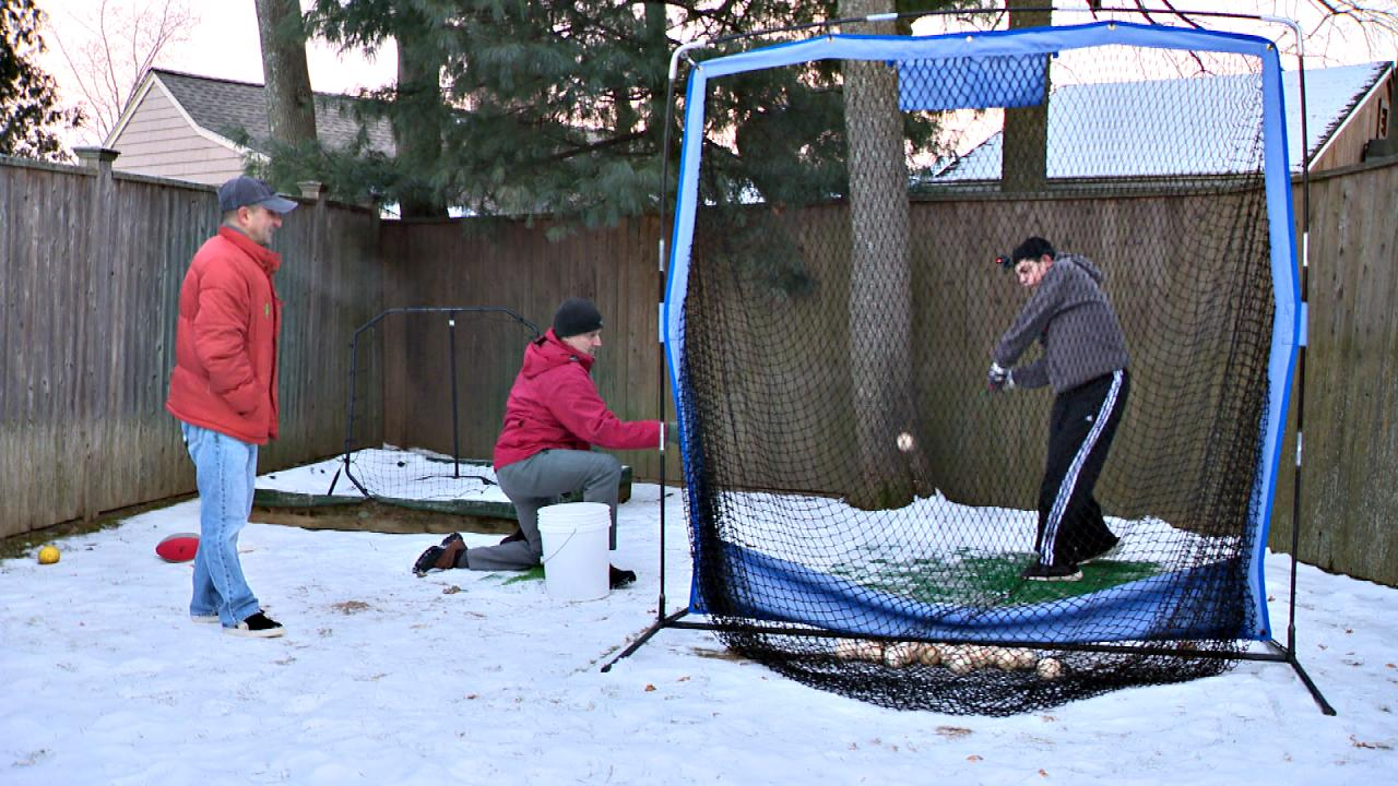 10,000 swings in the chill of winter for a kid who needs it