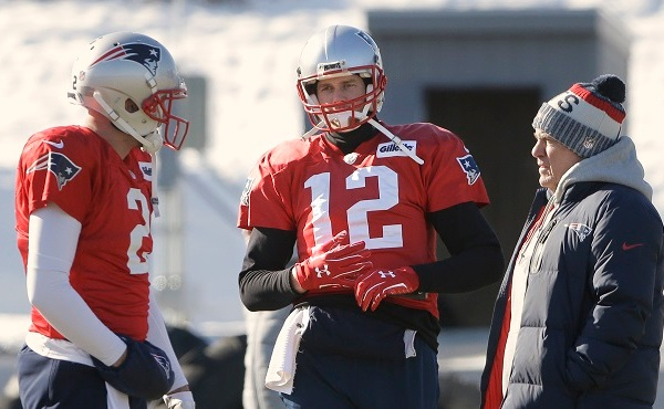 Brian Hoyer, Tom Brady, Bill Belichick_625446