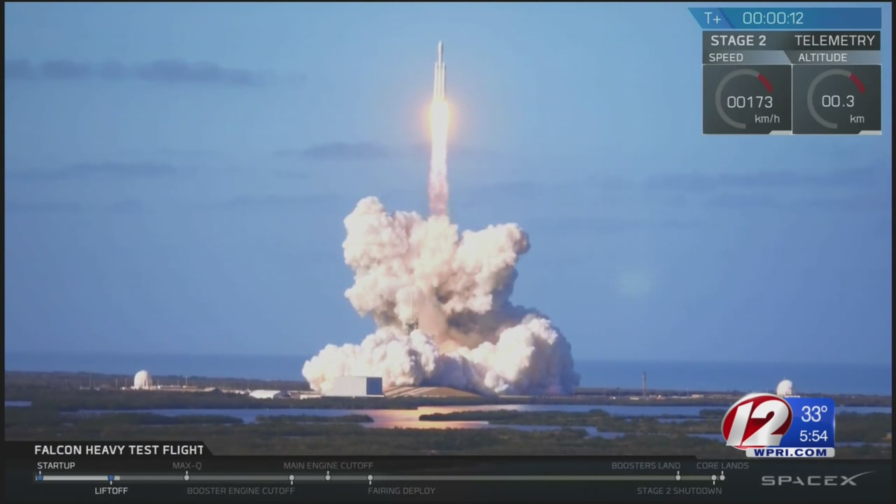 The world's most powerful rocket makes debut launch
