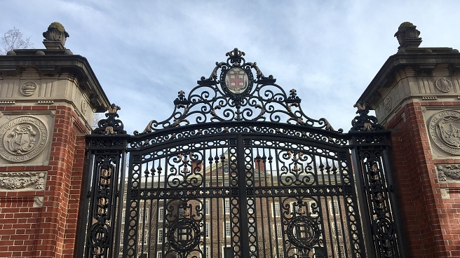Brown University entrance gate_601109