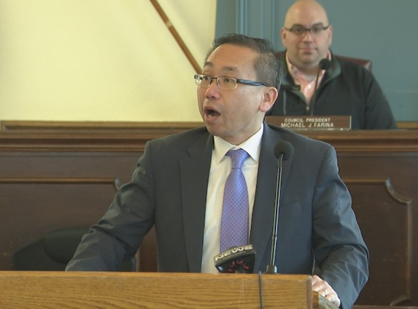 Mayor Allan Fung delivers proposed budget for 2018-2019