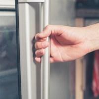 Hand opening freezer door_579749