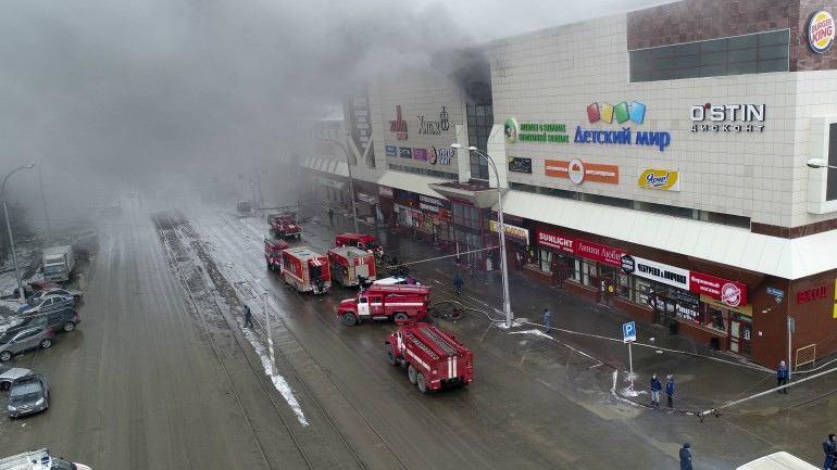 russia mall fire