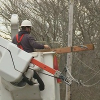 Power outage recovery utility pole work National Grid_656124