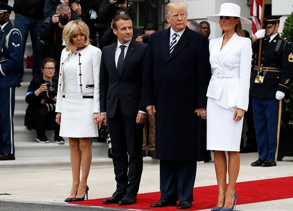 Trump US France macron visit