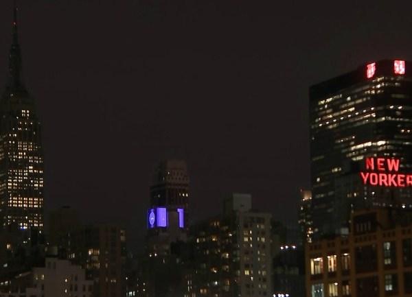 Empire State building dark for Toronto