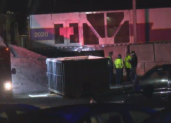 Pedestrian hit by train in Mansfield
