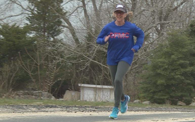 Mary Jane Johnson cancer survivor Boston Marathon