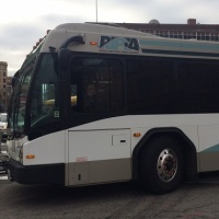 RIPTA bus in downtown Providence_397766