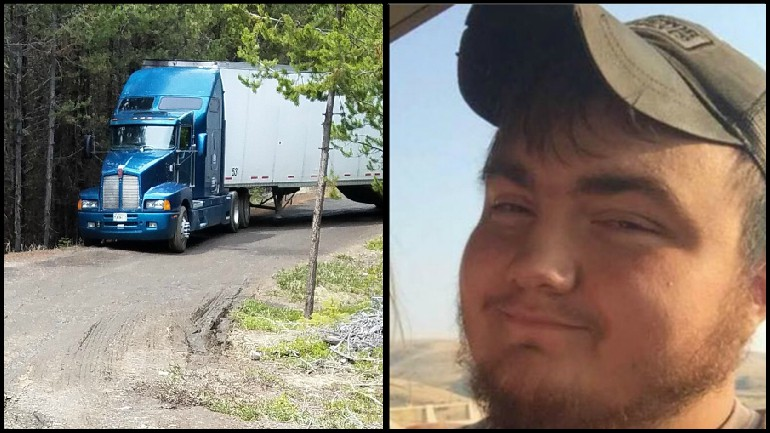 Oregon trucker Jason Cartwright