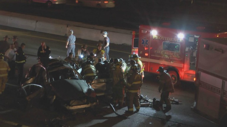 providence 95 south rollover crash