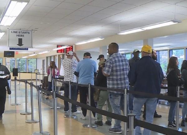 RI DMV lines